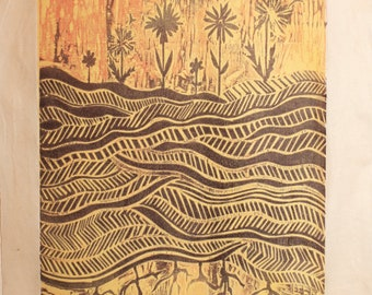 woodblock, 'Summertime Clothes'