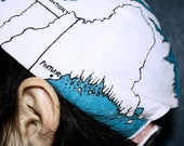 Midwest, East Coast & Canada Map Hat