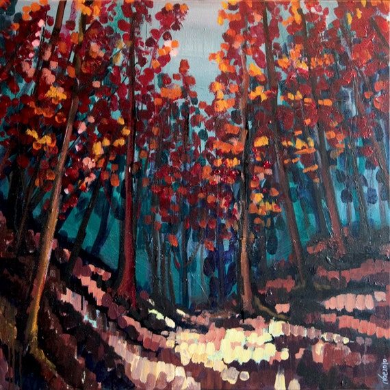 Forest: Original acrylic on canvas picture