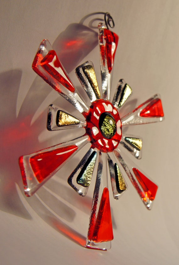 Items similar to fused glass christmas star tree