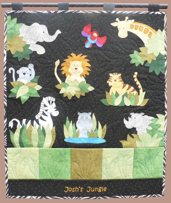 Josh's Jungle wall hanging pattern