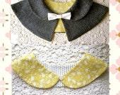 2 PDF Patterns Caplet and Reversible Peter Pan Collar - Detachable Collars