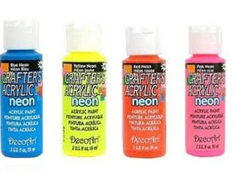 Clearance, Decoart Crafter's neon acrylic paint-choose your colour