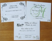 50 Wedding RSVP Response Reception POSTCARDS -Lots of Designs - Also Bridal/Baby Showers, Birthday, Anniversary, Reunions - New LOWER Price