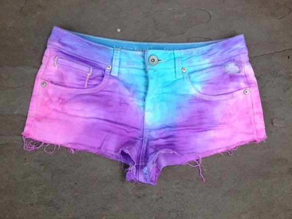 Tie Dye Rainbow Shorts