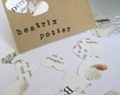 100 Heart Wedding Confetti, Table Decoration. Beatrix Potter