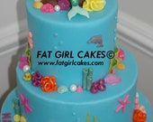 Fondant Under the Sea cake decorations