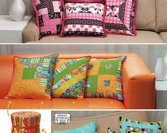 Simplicity 1788 Jelly Roll Patchwork Pillows, Patchwork Pillows in Three Sizes