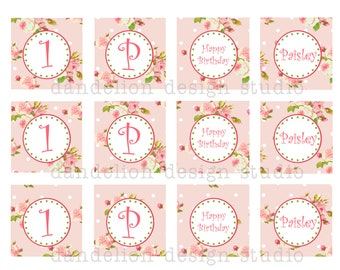 PRINTABLE Party Tags - Bright Shabby Chic Party Collection - Dandelion Design Studio