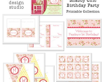 PRINTABLE Full Collection - Bright Shabby Chic Party Collection - Dandelion Design Studio