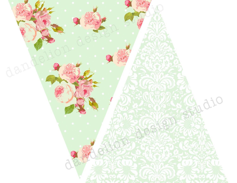 Triangle Banner Printable Printable pennant banner