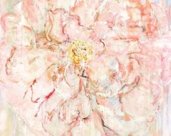 Giglee print, Pink Rose 1. Wall art. Print of fine art painting.