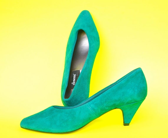 Emerald Suede Shoes - size 7.5