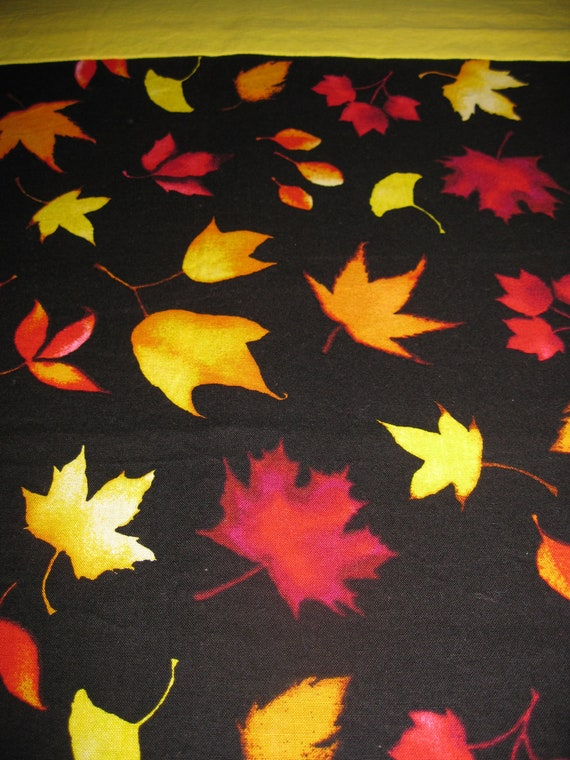 Single Standard Size Pillow Case 100% Cotton - Autumn leaves
