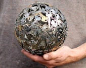 Medium 18 cm key ball, Key sphere, Metal sculpture ornament