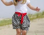 Polka dot children,girl, kid, toddler  bloomers, shorts