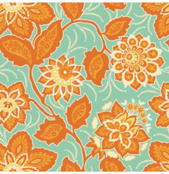 Heirloom 'Ornate Floral' in Amber Fabric by Joel Dewberry 1 yard