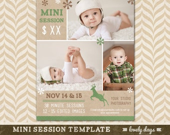 Mini Session Template Marketing Board for Photographers Holiday Session Photography INSTANT DOWNLOAD