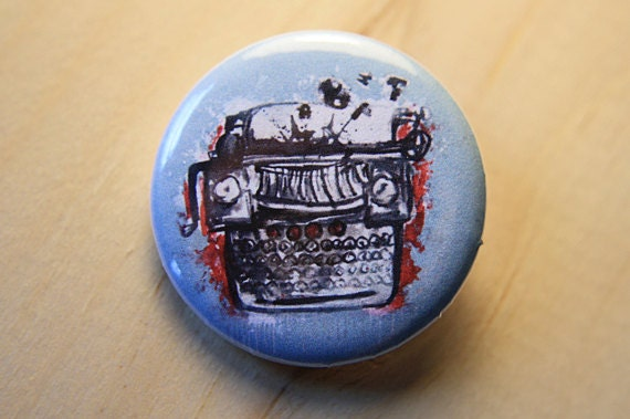 Typewriter  //  1.25 inch button