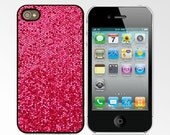 Glitter Case for iPhone 4/4S - Rose Red