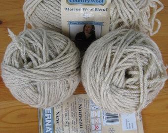 3 Skeins of Bernat Country Wool