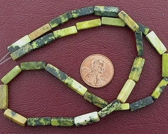 13x4 rectangle gem yellow turquoise beads