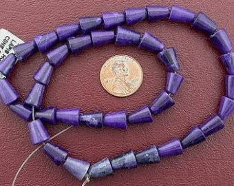 10x8 cone gemstone howlite purple beads