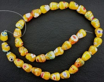 quality pineapple yellow tear drop flower beads