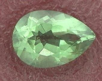 10x7 pear green quartz gem stone gemstone