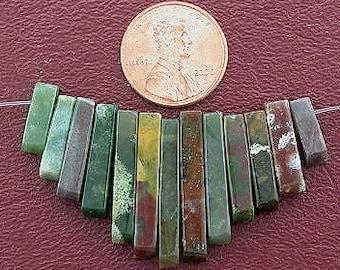fancy jasper  cleopatra 13 pc fan bead set