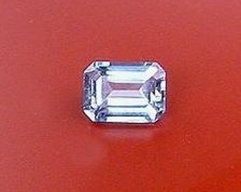 7x5 emerald cut blue topaz gem stone gemstone 7mm x 5mm