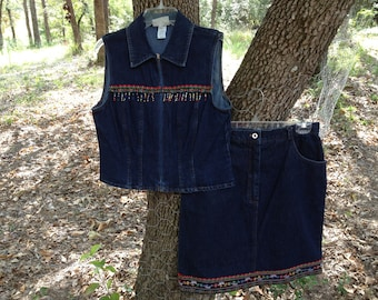 Size 6)-Very PRETTY SKIRT and VEST Outfit