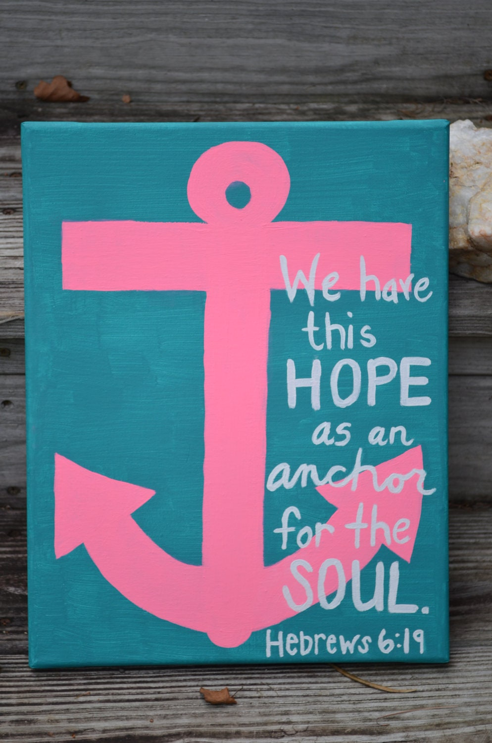 Canvas painting hebrews 6 19 anchor for What do you use to paint on canvas