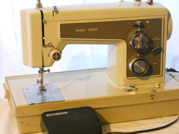 Sears Kenmore Sewing Machine with Carrying Case
