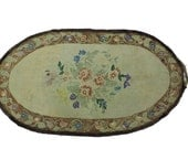 Antique Hooked Rug 33 X 60