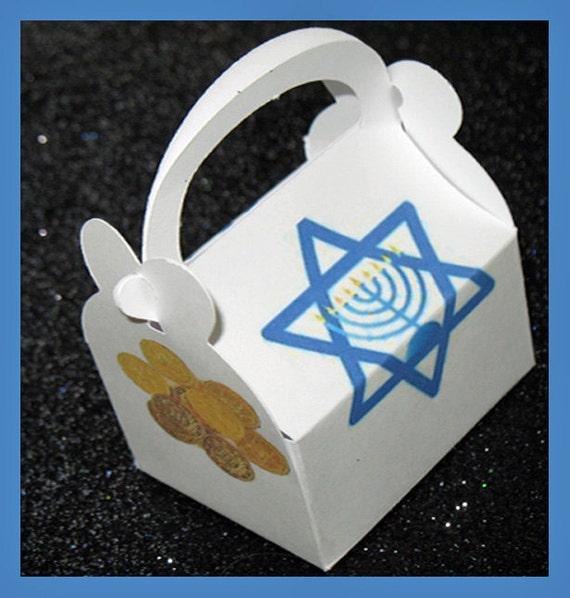 Hanukkah favor box, Hanukkah Gift Box, Gelt favor box