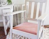 Vintage Rocking Chair White Pink Nursery Shabby chic