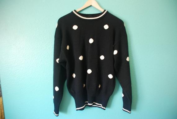 Vintage Early 90's Polka Dot Crewneck Sweater