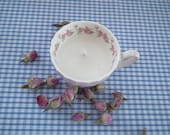 Tiny vintage teacup candle