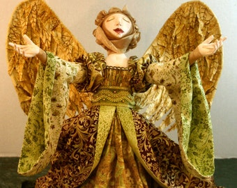 Paisley Praise, A Cloth Doll Pattern