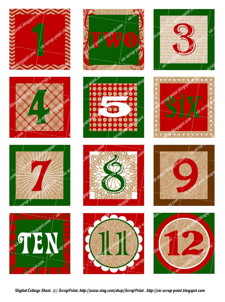 Satisfactory image pertaining to christmas numbers printable