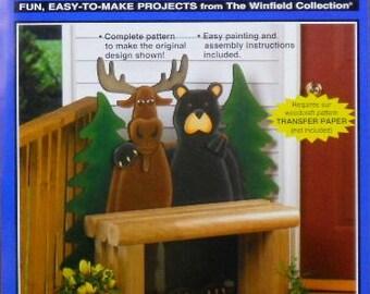 Northern Pals Moose & Bear Bench Wood Craft Patttern