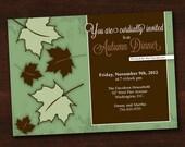 Autumn Dinner Party Invitation (Customizable) - Printable