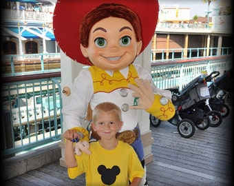 Mister Mouse Ears Head Shirt Personalized Applique - U Pick Colors for Magical Family Vacation