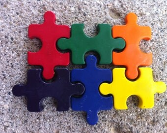 6pk. Puzzle Crayons