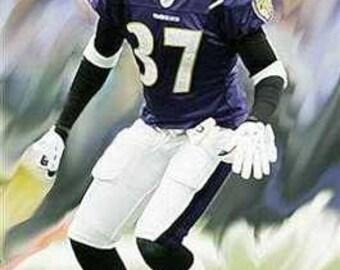 Great Deion Sanders Baltimore Ravens Art Lithograph LE