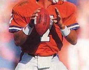 New John Elway Denver Broncos Art Litho Prt.