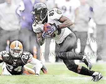 Rare Derrick Mason Baltimore Ravens Art Litho only 50
