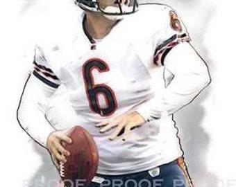 Rare Jay Cutler Chicago Bears Art Print LE of 50 12x18