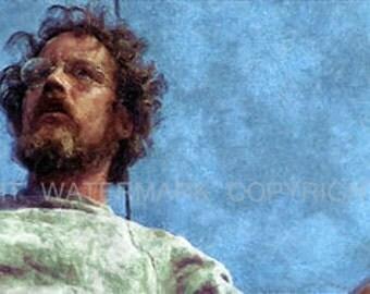 Matt Hooper Jaws Limited  Rare Art Print sn ony 50 12 x 18
